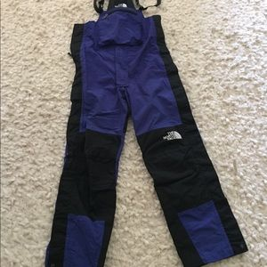 Women's North Face bibbed ski pants.